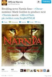 The Silver Chair Announced
